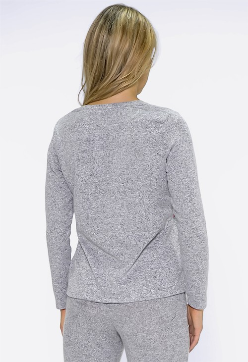 Twist Light Grey Knit with Red Ballet Print