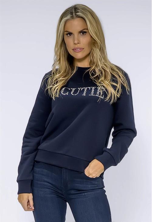 Pamela Scott Cutie Navy Sweatshirt