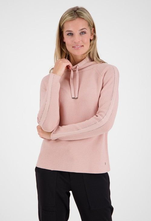 Monari Rose Rhinestone Detailed Pullover