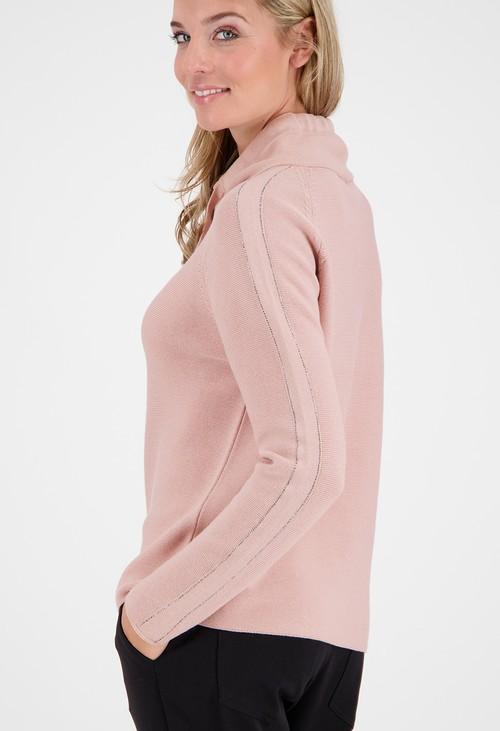 Monari Rose Rhinestone Detailed Pullover