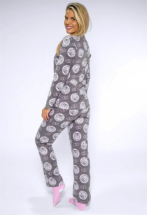 PS Nightwear 3 piece microfleece owl print pyjama set with plush socks