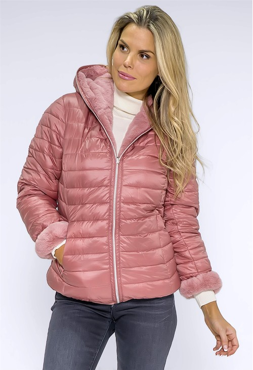 Pamela Scott Dusty Rose Reversible Jacket
