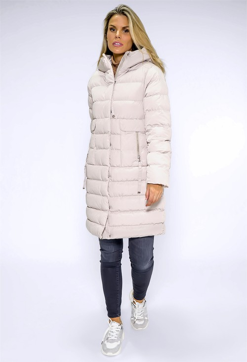 Pamela Scott Cream Quilted Coat
