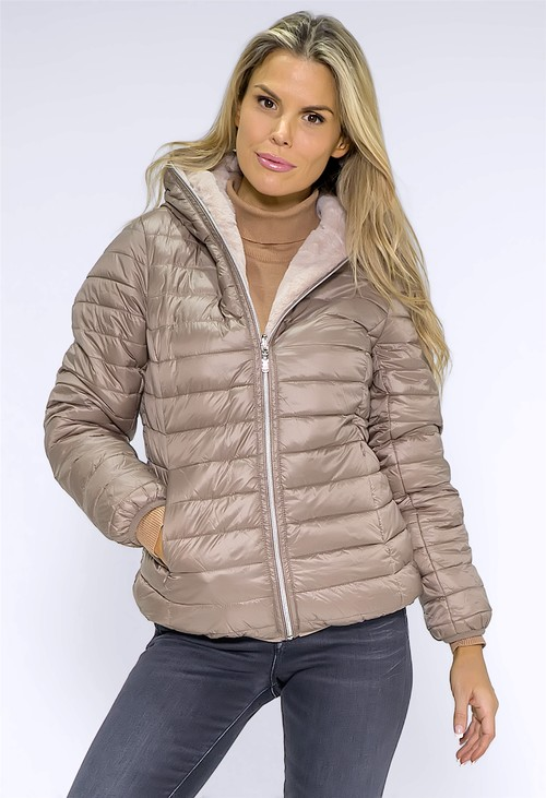 Pamela Scott Beige Reversible Jacket