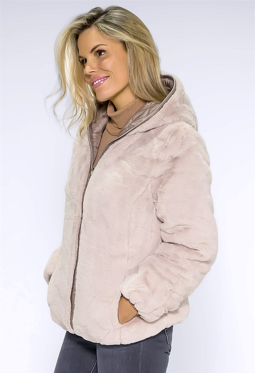 Pamela Scott Beige Reversible Jacket