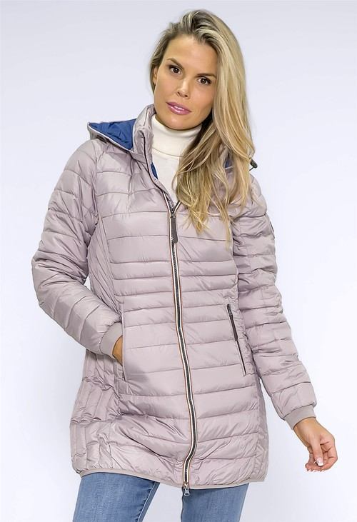 Pamela Scott Beige Quilted Coat