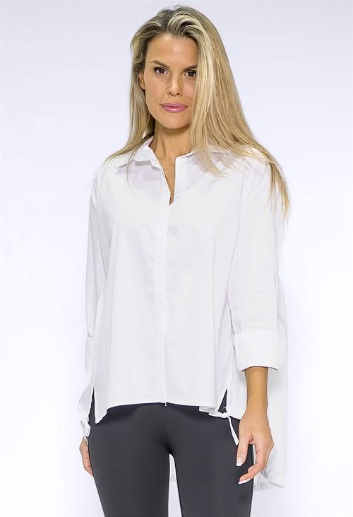 Wendy Trendy White Shirt with Elasticated Hemline