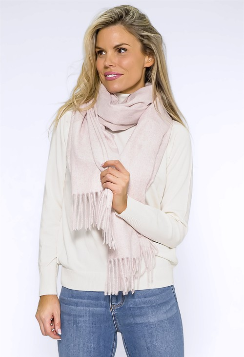 Pamela Scott Light Pink Cashmere Touch Scarf