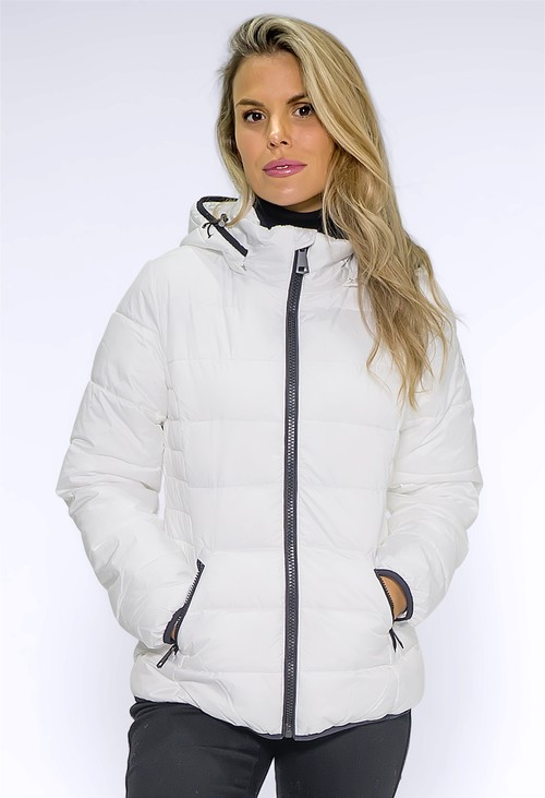 Pamela Scott Winter White Nickel Jacket