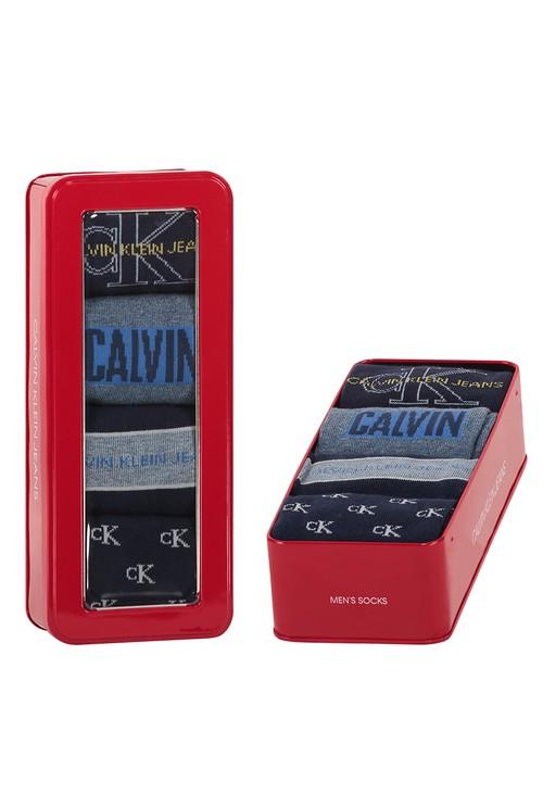 Calvin Klein 4 PACK LOGO CREW SOCKS GIFT SET