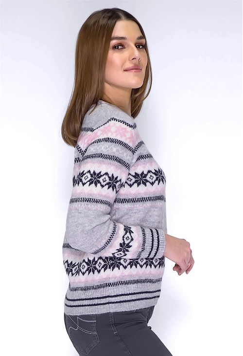 Twist Grey Snow Knit Jumper