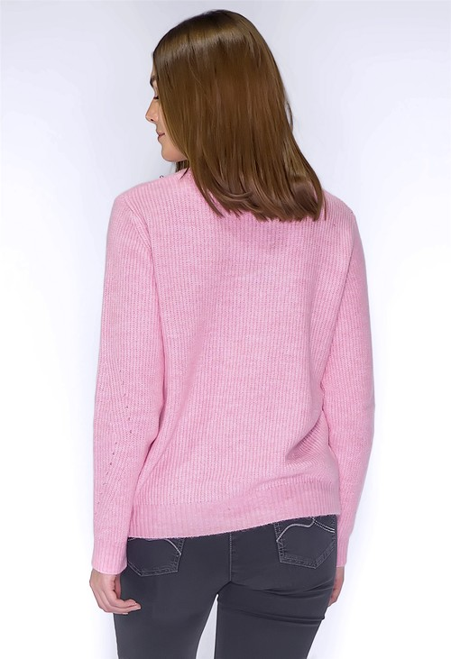 Twist Rose Knit Jumper with Silver Pearls