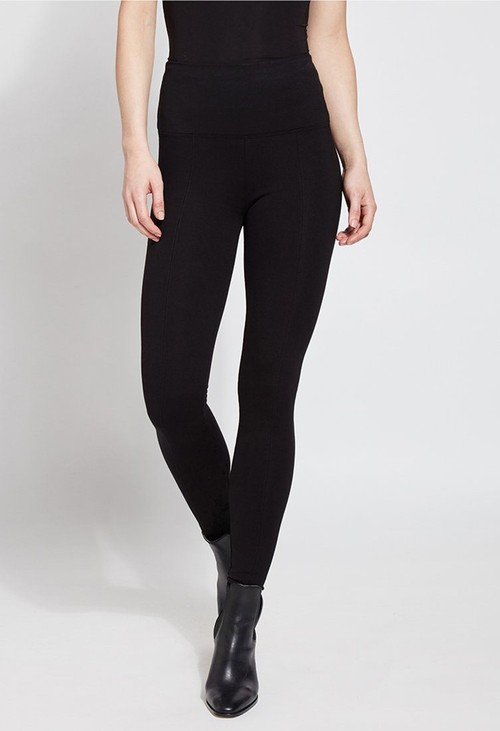 Lysse Leggings Double Knit Black Leggings with Smoothing Waistband