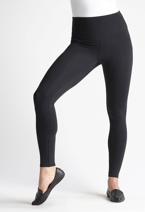 Yummie Black Cotton Leggings