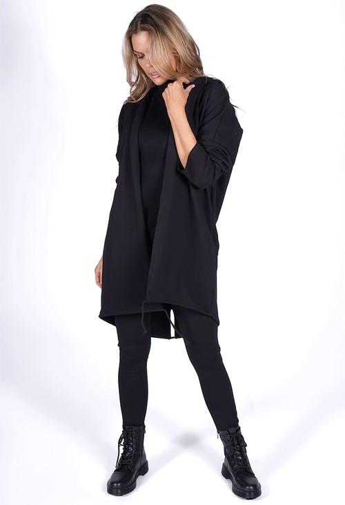 Zapara Black Sequin Star Coat