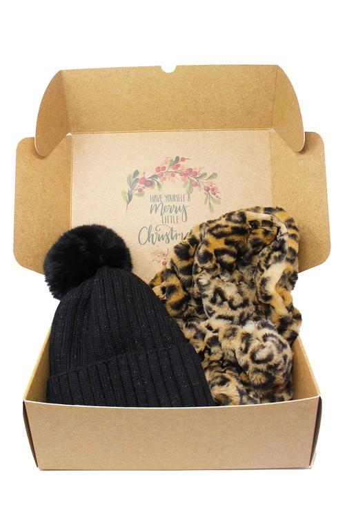 Pamela Scott Pom Pom Hat and Faux Fur Snood Gift Set