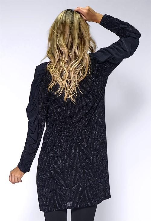 Pamela Scott Black Glittered Dress
