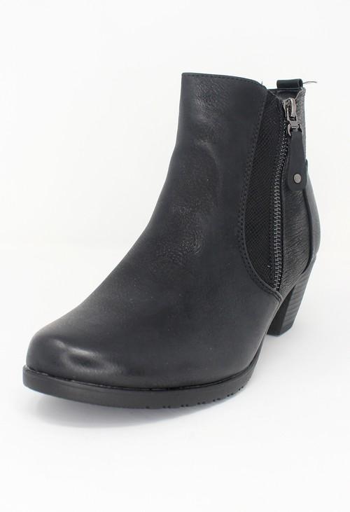 Shoe Lounge Black Block Heel Plain Front Ankle Boot