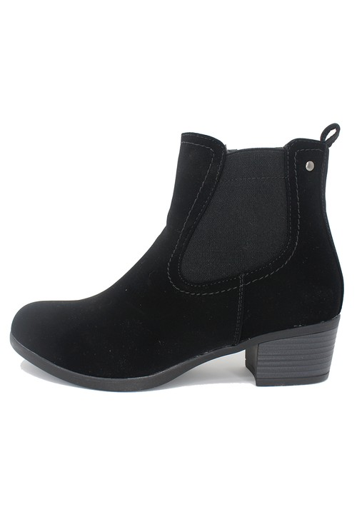 Shoe Lounge Black Block Heel Chelsea Style Ankle Boot