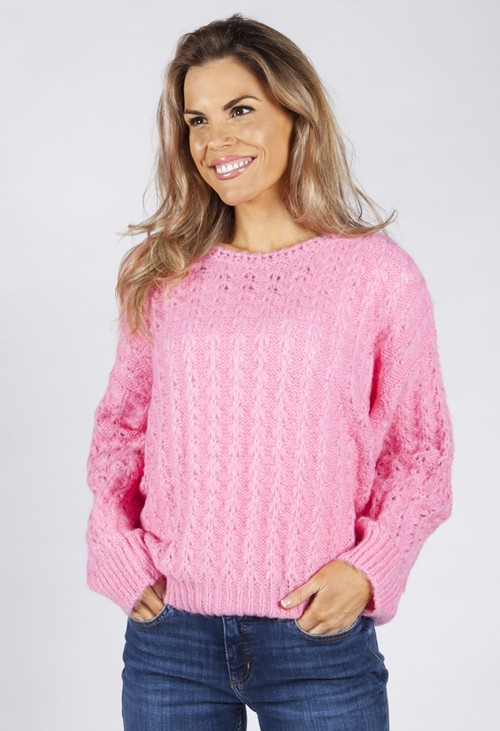 Pamela Scott Soft Pink Knit Jumper