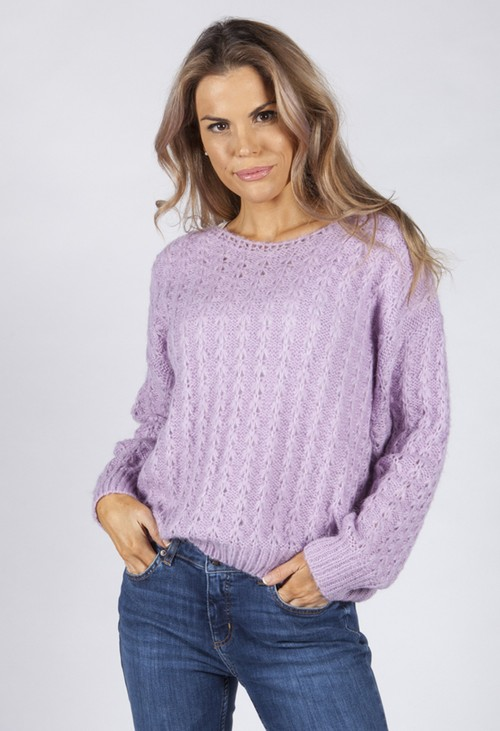 Pamela Scott Soft Lilac Knit Jumper