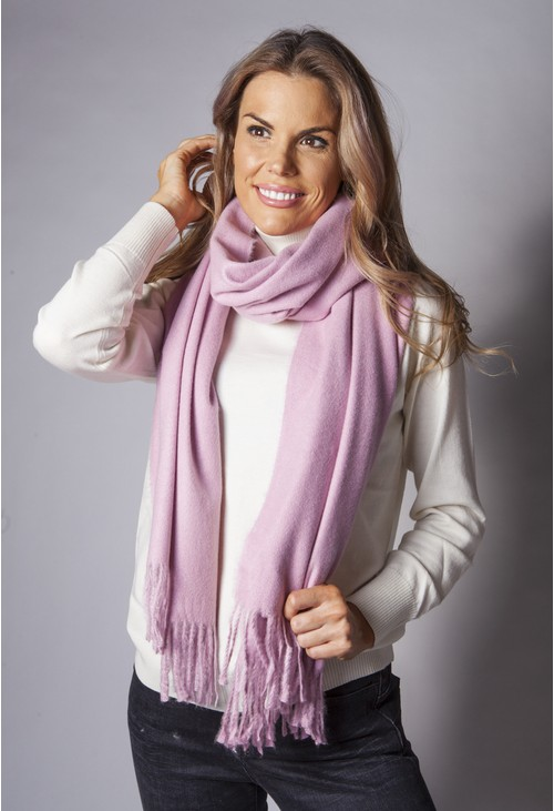 PS Accessories Soft Pink Wool Feel Scarf