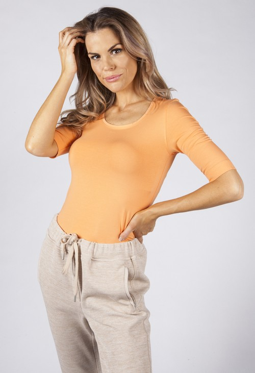 Opus Orange Sanika Basic Shirt