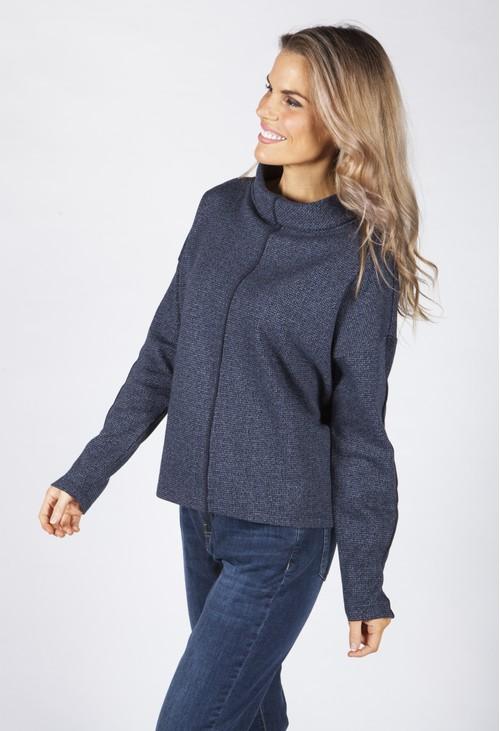 Opus Gabina Navy Printed Sweatshirt