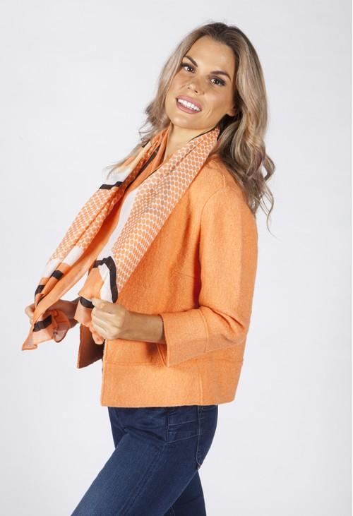 Opus Fresh Orange Patterned Scarf