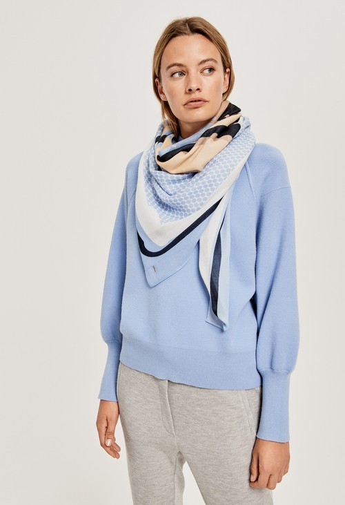 Opus Fresh Blue Patterned Scarf