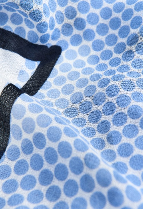 Opus Fresh Blue Patterned Scarf