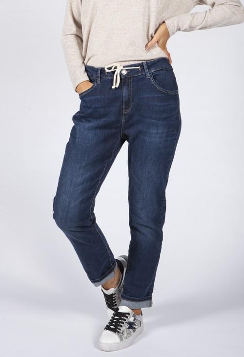 Opus Boyfriend jeans Louis dark blue