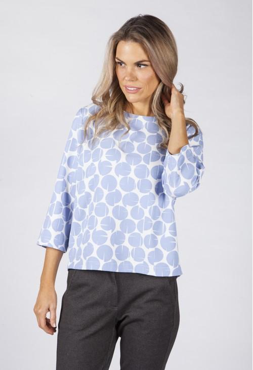 Opus Clear Blue Falesha Blouse