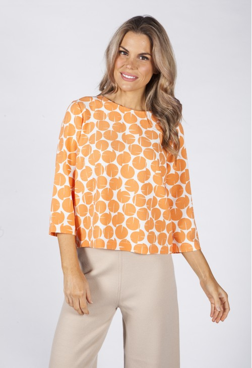 Opus Clear Orange Falesha Blouse