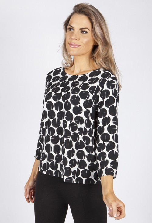 Opus Clear Black Falesha Blouse