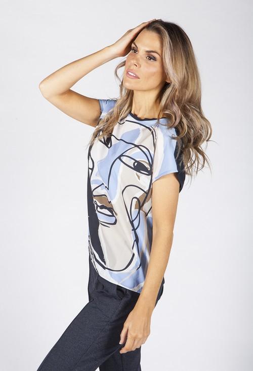 Opus Blue Sanosi Print Shirt