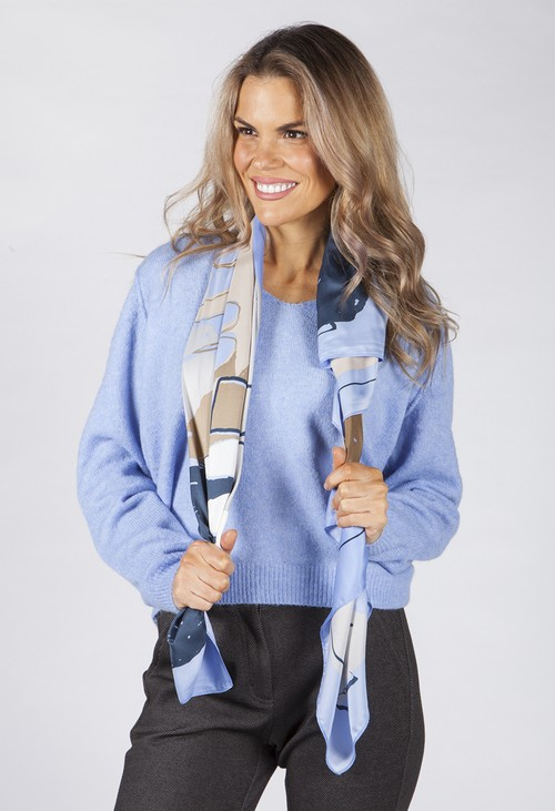 Opus Blue Acanvas scarf