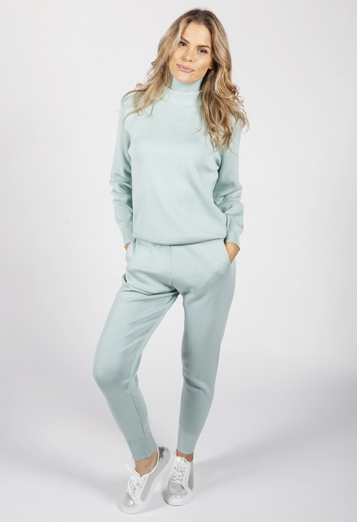 Pamela Scott Mint Knit Jogger Set