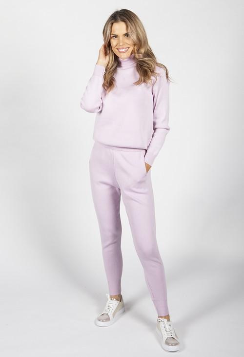 Pamela Scott Lavender Pink Knit Jogger Set