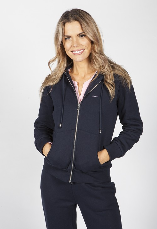 Twist Navy Zip Up Hoodie