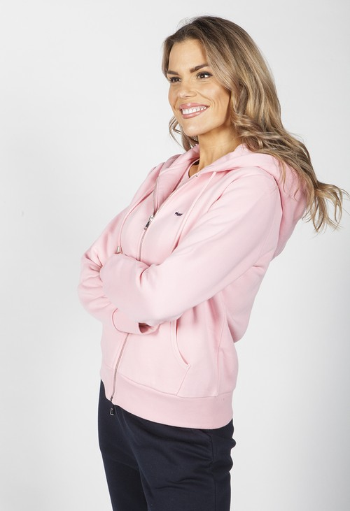 Twist Rose Zip Up Hoodie