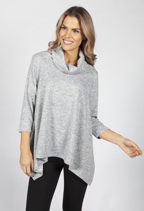 Pamela Scott Peppered Grey Tunic