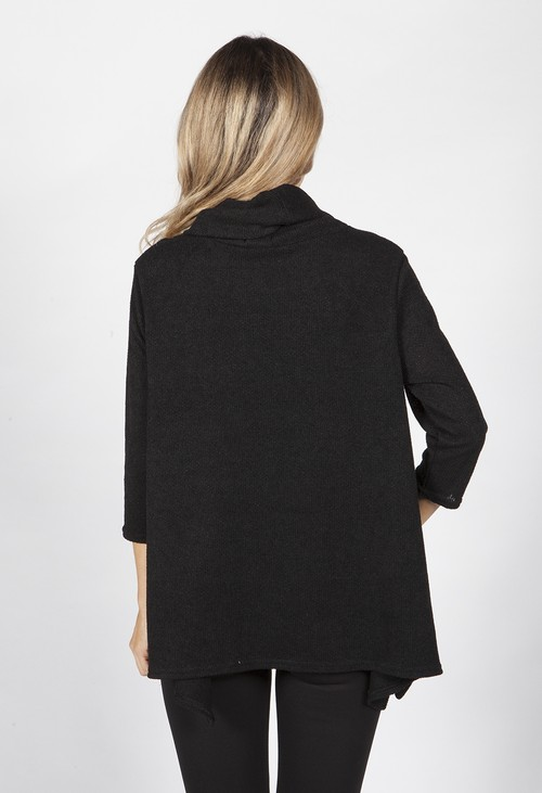 Pamela Scott Black Knitted Tunic