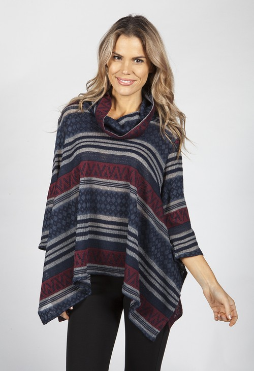 Pamela Scott Aztec Stripe Tunic