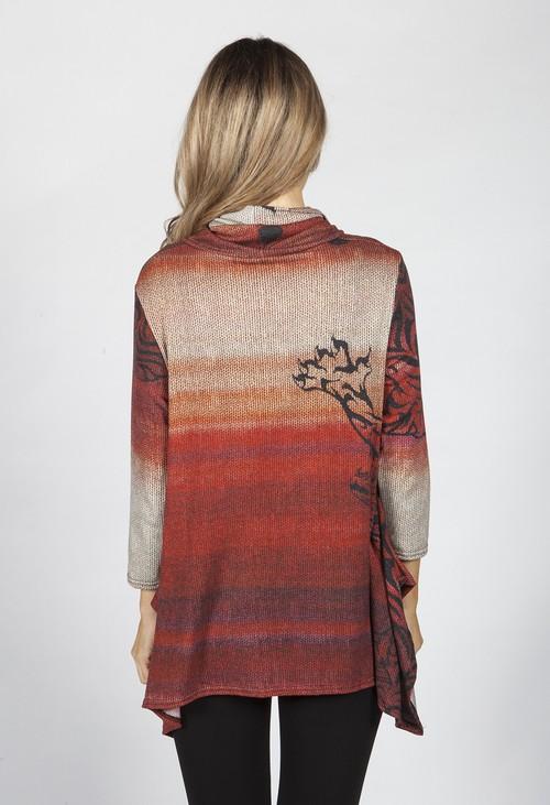 Pamela Scott Desert Rust Printed Tunic