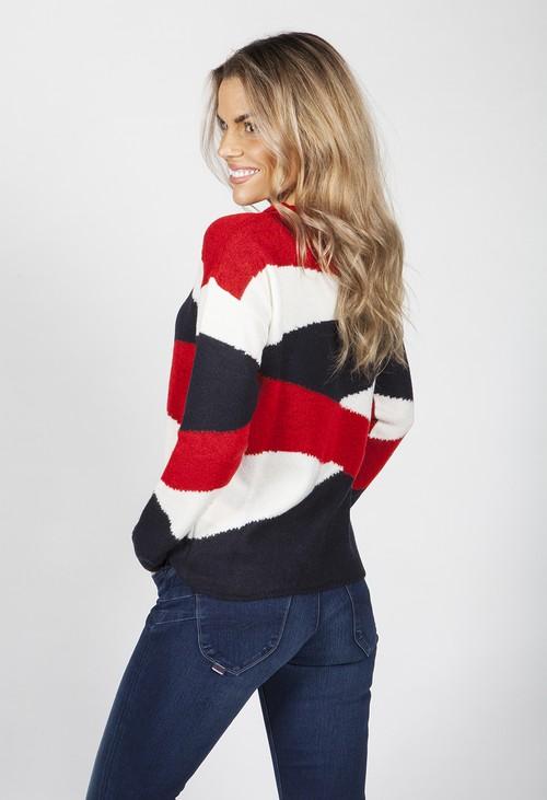 Twist Navy Swirl Knit Jumper
