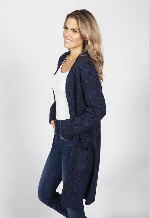 Sophie B Navy Soft Touch boucle Cardigan