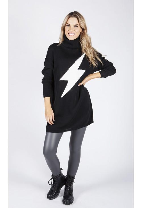 Zapara Lightning Design Knit Tunic