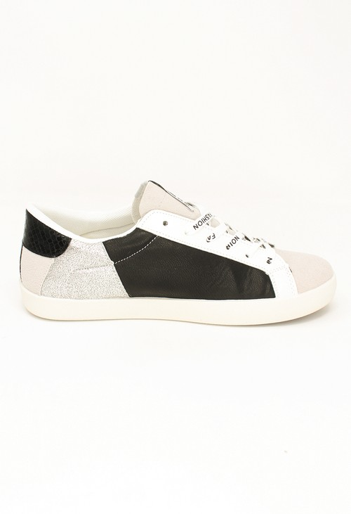 Shoe Lounge Black and Silver Fashion Laced Trainers