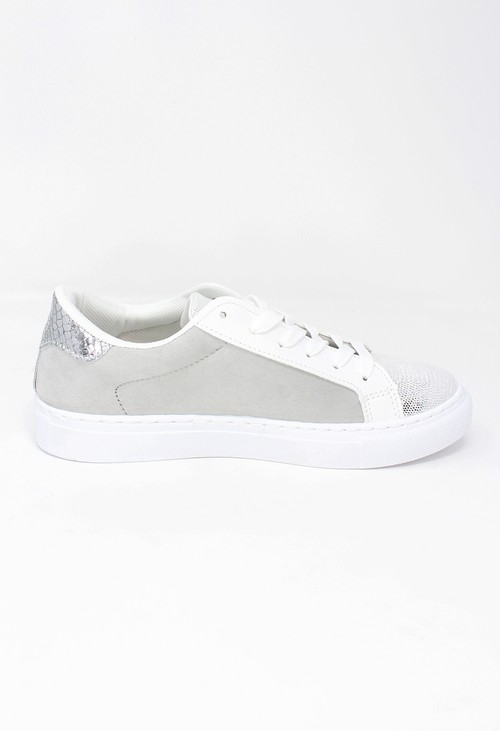 Shoe Lounge Grey Faux Suede Trainers